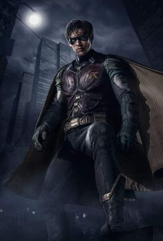 New Robin Costume Revealed for Titans TV Series Den of - Geek Dc Comics Funny, Dc Comics Heroes, Dc Comics Characters, Marvel Dc Comics, Robin Cosplay, Robin Costume, Geek Costume, Teen Titans, Dc Universe