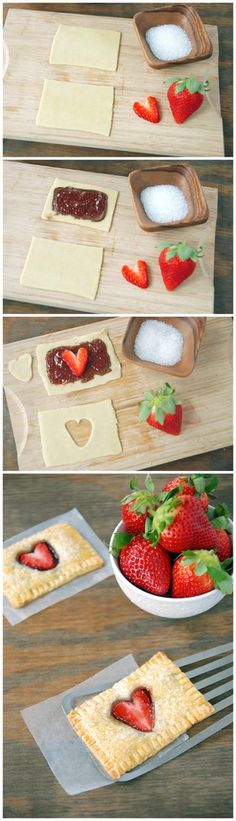 Strawberry Nutella Poptarts   Bake a Bite