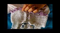 Tutorial de vestido de niña en crochet y tela. Video 2