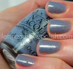 OPI Holland Collection ~ I Don't Give a Rotterdam...it's that Cornflower Blue Crayon I always loved, with shimmer