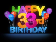 Happy 33rd Birthday Title, dark by Hebstreits #vector