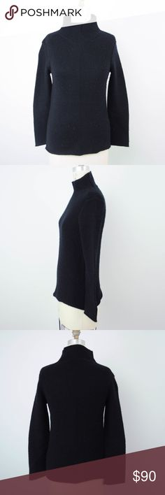 James Perse Sweater Wool Cashmere Mock Turtleneck James Perse Womens Sweater Sz 2=M Black Wool Cashmere Mock Turtleneck S28 Description  Material: 70% wool, 30% cashmere Size: 2 = M  Measurements (in inches):  Armpit-to-armpit: 16.5 Length: 24 **All our products come from a clean and smoke-free household.** James Perse Sweaters Cowl & Turtlenecks