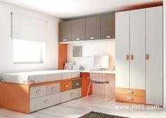Foto: Más adelantos de mueble juvenil. Hoy tocan los tonos naranjas!!
