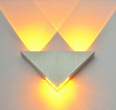 Cheap wall light, Buy Quality wall lights for bedroom directly from China light fixtures wall sconces Suppliers: Modern Led Wall Lamp Aluminum Body Triangle Wall Light For Bedroom Home Lighting Luminaire Bathroom Light Fixture Wall Sconce Crystal Ceiling Light, Modern Led Ceiling Lights, Led Wall Lights, Hallway Lighting, Home Lighting, Lighting Design, Luxury Lighting, Bedroom Lighting, Lighting Ideas