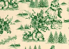 Green Christmas toile