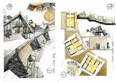 Architecture Sketches, Architectural Prints, Drawings, Architectural Sketches, Sketches, Drawing, Portrait, Draw, Grimm