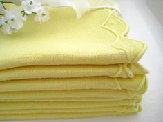 Your place to buy and sell all things handmade Beautiful Home Gardens, House Beautiful, Honeysuckle Cottage, Yellow Accessories, Yellow Cottage, Yellow Houses, Linen Napkins, Shades Of Yellow, Mellow Yellow