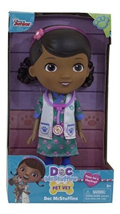 Disney Junior Doc McStuffins My Friend Doc Doll - Pet Vet Doctor Figure with Lab Coat by Doc McStuffins -- Find out more about the great product at the image link.
