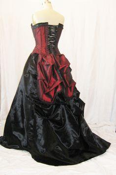 The Secret Boutique Vampire Steampunk Masquerade Corset Victorian gown. $539.99, via Etsy.
