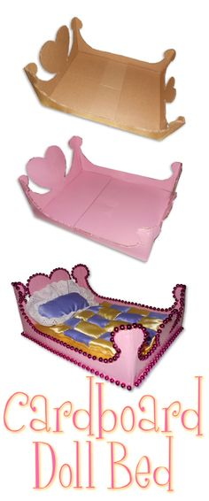 Cardboard Doll Bed- Made this for Aiyanna
