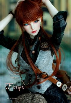 FREYA is the girl bjd which have a english face. She is belong to the SD category doll. It is first present as Vito version of Soul Doll. You can order here at dolk station. Beautiful Barbie Dolls, Pretty Dolls, Cute Dolls, Anime Dolls, Blythe Dolls, Kawaii Doll, Gothic Dolls, Realistic Dolls, Cute Girl Pic