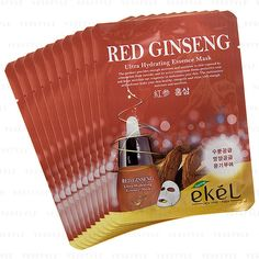 EKEL Natural Beauty Red Ginseng Ultra-Hydrating Facial Mask Sheet Pack 1PCS #EKEL