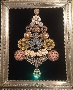 Vintage Jewelry Christmas Tree made by my sister Tina Lawson. :)
