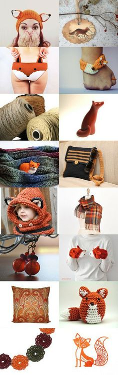 Etsy Foxes by Eva Miller on Etsy--Pinned with TreasuryPin.com