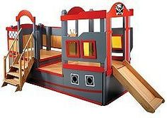 Bright crisp graphics, multi-level decks, stairs, and a slide, these colorful vehicles promote imaginative play.