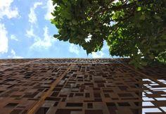 Fachada em aço corten executada pela Accero. www.accero.com.br