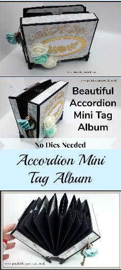 A step by step tutorial on how to make this mini accordion Tag album #handmadegifts, #minialbum, #cardmakingideas, #papercrafts,