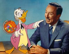 Impeccably attired - the pair of them! Ludwig Von Drake and the Boss.