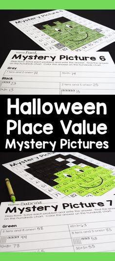 These color by number place value mystery pictures are my favorite Halloween place value activity. I love that there are 8 mystery pictures included in this pack. Second Grade Writing, Teaching Second Grade, First Grade Science, First Grade Activities, First Grade Reading, 1st Grade Math, Math Activities, Number Place Value, Place Values