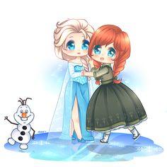 Chibi End by KawaiiUchuujin on deviantART Frozen Disney, Frozen Elsa And Anna, Disney Nerd, Cute Disney, Baby Disney, Frozen Drawings, Disney Drawings, Princess Movies, Disney Songs