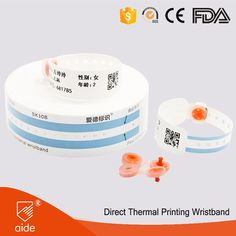 SK30B Super Soft Thermal Children's Patient Identification Bands #newborn #babies #kids #hospital #identification