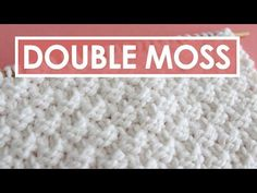 DOUBLE MOSS Knit Stitch Pattern | Easy for Beginning Knitters - YouTube