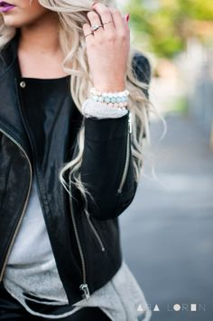 CARA LOREN: Distressed with Leather