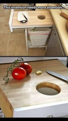 Chopping board drawer