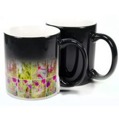 The black colour change mug has a heat sensitive thermochromic coating that reveals your design or image when filled with hot liquid. Colour changing mugs are such a versatile promotional item, whether you are using them at an event, as a corporate promo Screen Printing Supplies, Personalized Mugs, All Gifts, Mug Designs, Black Print, Color Change, Tableware, Colour, Image