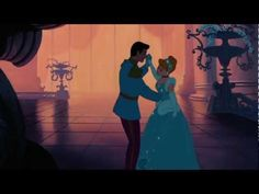 """Cinderella and the Prince """"So this is love. Disney Couples, Disney Love, Disney Magic, Walt Disney, Disney Kiss, Disney Style, Cinderella 3, Cinderella And Prince Charming, Disney Songs"""