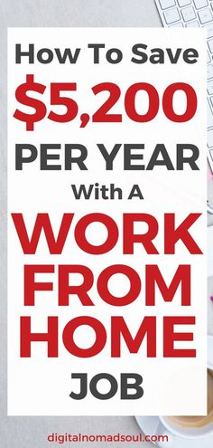 Remote Jobs have many benefits. One of them is that you can save a lot of money when working from home. Check out how exactly you can save money while staying at home (hint: it's not just through avoiding the daily commute). Work From Home Jobs, Make Money From Home, Make Money Online, How To Make Money, Be Your Own Boss, Continuing Education, Saving Money, Saving Tips, Virtual Assistant