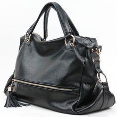New Tassel Leather Handbag Cross Body Shoulder Bag