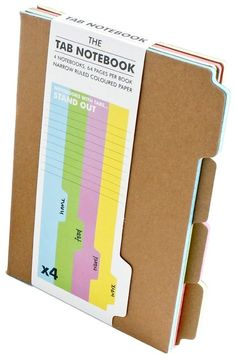 Tab Notebook  by Suck UK