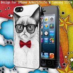 Cat Nerd Design for iPhone 4/4s iPhone 5/5s/5c by TUKUONDEZ, $14.90
