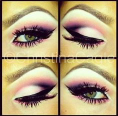 Beautiful pink look for the green eyed girls