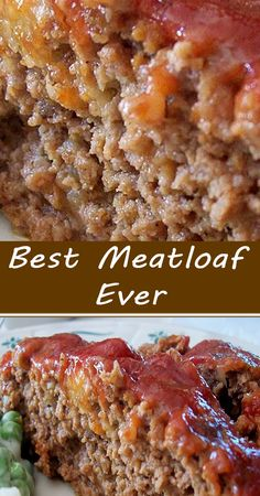 Good Meatloaf Recipe, Best Meatloaf, Meatloaf Recipes, Easy Casserole Recipes, Easy Dinner Recipes, Easy Meals, Holiday Recipes, Beef Dishes, Food Dishes