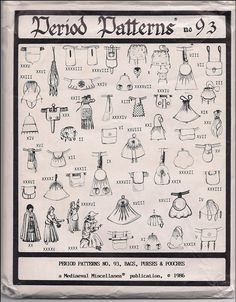 Patterns for 39 Medieval Bags Purses and Pouches by stuffmatters