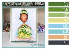 Princess and the Frog Copic Marker Color Combo