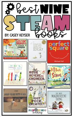 STEAM Bins and the Best 9 STEAM Books for kids! Drew Daywalt, The Most Magnificent Thing, Morning Announcements, Bin Labels, Fingerprint Art, Do Perfect, Genius Hour, Space Books, Logic Puzzles
