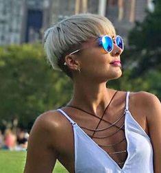 42 Coolest Short Pixie Cuts and Hairstyles Trends in 2019 Coolest Short Pixie Cuts and Hairstyles Trends in Trendy hairstyles and colors Women hair colors; Short Pixie Haircuts, Pixie Hairstyles, Short Hairstyles For Women, Trendy Hairstyles, Short Hair Cuts, Pixie Cuts, Hairstyles 2016, Thick Curly Hair, Curly Hair Styles
