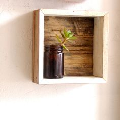 Reclaimed timber frame shadow box Rustic wooden by lewisdean Shadow Box Shelves, Window Shelves, Shadow Box Frames, Shelf Wall, Rustic Shelves, Wood Shelves, Floating Shelves, Shelving, Porch Bar