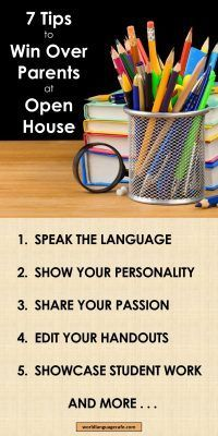 Open House Ideas for Teachers, How to Win Over the Parents Open House, Back to School Ideas for French and Spanish Teachers – World Language Cafe High School French, Middle School Spanish, Elementary Spanish, French Class, Free Spanish Lessons, Spanish Lesson Plans, French Lessons, Spanish 1, Learn Spanish