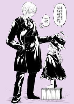 after 2 years in gintama // Okita as a father figure to Kanna (Kagura's daughter) // gintama