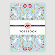 Picnic notebook £3.50 available from www.shop-eh.com #eh #design #sandwich #picnic #patter #summer #picnic
