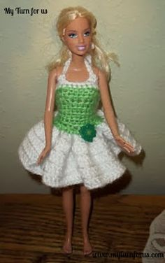 My Turn for us: Free Barbie St Paddy's Dress Pattern