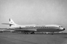 Aerolineas Argentinas Caravelle Sud Aviation, Civil Aviation, United Airlines, Air France, Mk1, Rolls Royce, Aircraft Design, Concorde, Commercial Aircraft