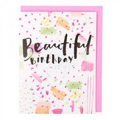 Beautiful mini birthday card