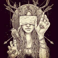 Horror, Art and Body Parts Arte Horror, Horror Art, Dark Fantasy Art, Art And Illustration, Arte Inspo, Satanic Art, Geometric Drawing, Bild Tattoos, Dark Art Drawings