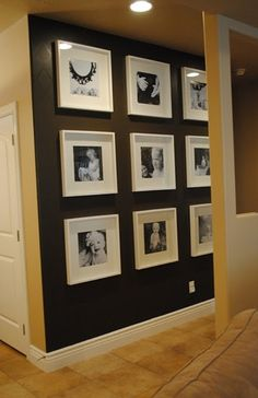 Photo wall black and white