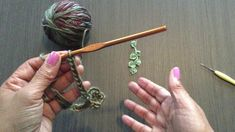 Please know that I am not an expert crocheter and I did not have a pattern to create this crochet leaf dangle, so please keep in mind that it may not be the . Crochet Leaves, Crochet Flowers, Holly Leaf, Irish Lace, Bobby Pins, Dangles, Hair Accessories, Make It Yourself, Knitting